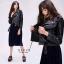 เสื้อเกาหลี ZARA Leather Jacket แจ็คเก็ตหนัง พร้อมส่ง thumbnail 5
