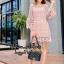 เดรสแฟชั่น พร้อมส่ง MINI Dress แขนกระดิ่ง thumbnail 3