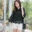 เสื้อเกาหลี พร้อมส่ง เสื้อคอกลม แขนกระดิ่ง thumbnail 12