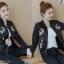 เสื้อเกาหลี พร้อมส่ง แจ๊คเก็ตหนังสีดำ thumbnail 3