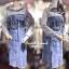 เดรสแฟชั่น พร้อมส่ง Dress เสื้อมีฮู้ดเย็บติดเดรสยีน thumbnail 3