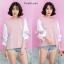 เสื้อเกาหลี ทรูโทนสีสลับ พร้อมส่ง thumbnail 1