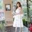 เดรสเกาหลี พร้อมส่ง เดรสผ้าซาตินเนื้อนิ่ม เงาสวย thumbnail 6