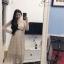 ชุดเดรสเกาหลี พร้อมส่ง Dress ผ้ามุ้งซีทรู thumbnail 6