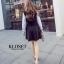 เสื้อผ้าเกาหลี Set 2 ชิ้น เดรสแขนยาว คอปีน thumbnail 5