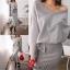 เสื้อผ้าเกาหลี พร้อมส่ง เสื้อ+กระโปรง thumbnail 9