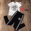 เสื้อผ้าแฟชั่นเกาหลี พร้อมส่ง Set เสื้อ+กางเกงพิมพ์ลายคมชัด thumbnail 4