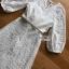 ชุดเดรสเกาหลี พร้อมส่ง เดรสผ้าชีฟองปักลายสีขาว thumbnail 11
