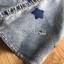 พร้อมส่ง เดรสผ้าเดนิมสกรีนลายดาวทับเสื้อลูกไม้สีขาว thumbnail 6