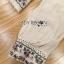 พร้อมส่ง เสื้อผ้าคอตตอนลินินปักลายดอกไม้ thumbnail 15