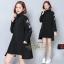 เดรสเกาหลี พร้อมส่ง Mini Dress คอเต่า แขนยาว thumbnail 3