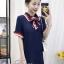 พร้อมส่ง Mini Dress คอปก แขนสั้น thumbnail 12