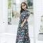 ชุดเดรสเกาหลี พร้อมส่ง เดรสยาวผ้าทิ้งตัวพลิ้วสวยสุดๆ thumbnail 2