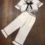 พร้อมส่ง เสื้อสีขาว คอปกกับกางเกง thumbnail 7