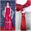 ชุดเดรสเกาหลี พร้อมส่ง Maxi Dress เดรสยาว สายเดี่ยวสีแดง thumbnail 7