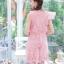 พร้อมส่ง Dress ลูกไม้คอกลม แขนกุด thumbnail 5