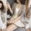 เสื้อเกาหลี พร้อมส่ง เสื้อคลุมไหมพรมประดับคริสตัล thumbnail 2