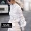เสื้อเกาหลี พร้อมส่ง เสื้อลูกไม้ งาน Knit ลายดอกไม้ thumbnail 6