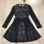 พร้อมส่ง Mini dress ลูกไม้แขนยาวสีดำ thumbnail 5