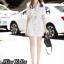 เดรสเกาหลี พร้อมส่ง Dress ทรงสูท มาพร้อมเข็มขัด thumbnail 2
