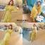ชุดเดรสเกาหลี พร้อมส่ง เดรสยาวสีเหลืองน่ารัก thumbnail 4