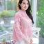 เสื้อเกาหลีลูกไม้คอกลม ผ้าชีฟอง พร้อมส่ง thumbnail 8