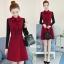 เดรสเกาหลี พร้อมส่ง เดรสทรงสวย ผ้าสำลีแบบนิ่ม thumbnail 11