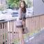 Dress ชุดเดรสเกาหลี พิมพ์ลายริ้ว พร้อมส่ง thumbnail 1