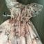 พร้อมส่ง Mini Dress พิมลายดอกไม้ซีทรู thumbnail 3