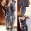 เสื้อผ้าเกาหลี พร้อมส่ง ชุดเซตวอร์มมีฮู้ด thumbnail 4