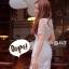 ชุดเดรสเกาหลี พร้อมส่ง Dress ชุดกระโปรงสุดหวานสีขาว thumbnail 4