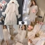 ชุดเดรสเกาหลี พร้อมส่ง เดรสผ้ามุ้ง แต่งเลื่อม ผูกโบว์ที่เอว thumbnail 2