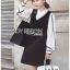 เสื้อผ้าเกาหลี พร้อมส่ง เสื้อเชิ้ตผ้าเครปและเดรสสีดำ thumbnail 4