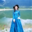 ชุดเดรสเกาหลี พร้อมส่ง เดรสยาว สีน้ำเงินเข้ม สีสวย คอปก thumbnail 1