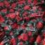 เดรสเกาหลี พร้อมส่ง เดรสผ้าเครป พิมพ์ลายดอกกุหลาบสีแดง thumbnail 16