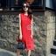 พร้อมส่ง Dress อัดพลีท ทรงสวย thumbnail 4