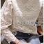 เสื้อเกาหลี ผ้าลูกไม้ลายซิกแซก พร้อมส่ง thumbnail 13