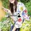 พร้อมส่ง เสื้อผ้าเกาหลีพิมพ์ลายดอกไม้สไตล์ Zara thumbnail 6