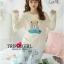 เสื้อผ้าแฟชั่นเกาหลี พร้อมส่ง หมีแบร์อบอุ่น เสื้อ+กางเกง thumbnail 3
