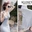 ชุดเดรสเกาหลี Maxi dress ไขว์ด้านหน้า พร้อมส่ง thumbnail 10