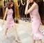ชุดเดรสเกาหลี ทรงบอดี้คอนเข้ารูป มี 2 สี พร้อมส่ง thumbnail 2