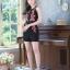 เสื้อผ้าแฟชั่นเกาหลี จั้มสูทปักดอกกุหลาบ พร้อมส่ง thumbnail 2