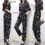 เสื้อผ้าแฟชั่นเกาหลี พร้อมส่ง จั๊มสุท พิมลายช่อดอกไม้ thumbnail 3