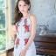 เสื้อผ้าแฟชั่นเกาหลี จั้มสูทปักดอกกุหลาบ พร้อมส่ง thumbnail 7