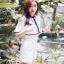 เสื้อผ้าเกาหลี พร้อมส่ง จั๊มสูท ระบายซีทรูผ้าเนื้อดีคลุมไหล่ thumbnail 5
