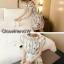 เดรสเกาหลี พร้อมส่ง เดรสสั้นผ้าโปร่ง ปักลายดอกไม้ thumbnail 5