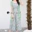 เสื้อผ้าเกาหลี พร้อมส่ง จั้มสูท ทรงคอเหลี่ยมกับเสื้อคลุม thumbnail 4