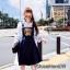 เสื้อผ้าเกาหลี พร้อมส่ง เสื้อเชิ้ตกับเอี๊ยมกระโปรง thumbnail 2