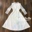 เดรสเกาหลี พร้อมส่ง ชุดเดรสเจ้าหญิงผ้าลูกไม้ปักสีขาว thumbnail 8