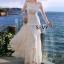 พร้อมส่ง Maxi dress เปิดไหล่แขนยาว thumbnail 2